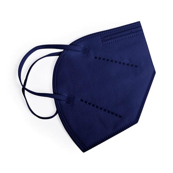 Atemschutzmaske FFP2, dunkelblau, einzeln verpackt im Sterilisationsbeutel, CE