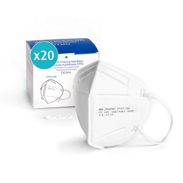 Atemschutzmaske FFP2, weiß, einzeln verpackt, CE