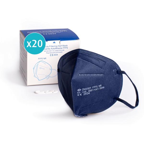 Atemschutzmaske FFP2, dunkelblau, einzeln verpackt, CE